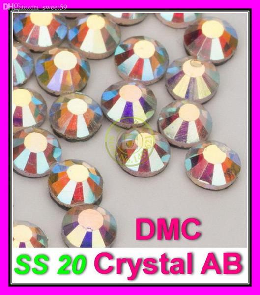 Promotion Cheap rhinestones DMC Flatback Hotfix Rhinestone ss20 Crystal AB Iron on Crystals1440pcs/bag,Best quality