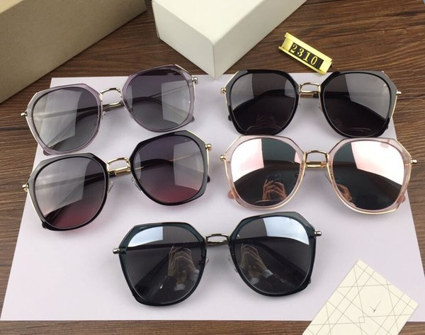 Vogue of new fund of 2019 multicolor sunglass lenses 2310 South Korea famous web celebrity street snap sunglasses with package