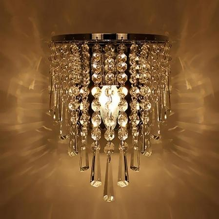 Modern Crystal Wall Lamp Chrome wall sconce For Living Room Bathroom Home Indoor Lighting decoration wall light