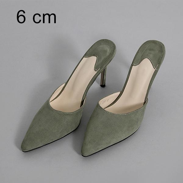 Pantofole 6cm verdi
