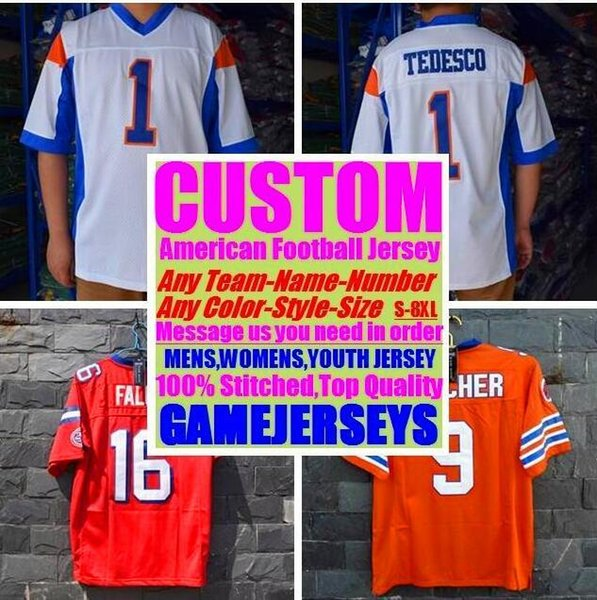 All Stitched Custom american football jerseys Miami Pittsburgh college authentic cheap baseball basketball mens womens youth USA 4xl shop