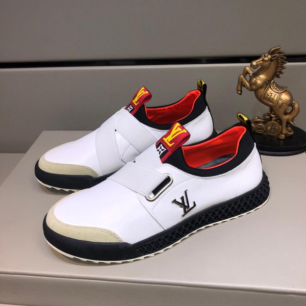 best selling 2019z autumn custom luxury designer leather men's casual shoes, high quality fashion wild sports shoes, original box packaging, size: 38-44