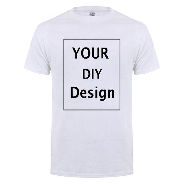 cool Customized Men's T Shirt Print Your Own Design High Quality Cotton T-Shirt For Men Plus Size no glue print XS-3XL #03