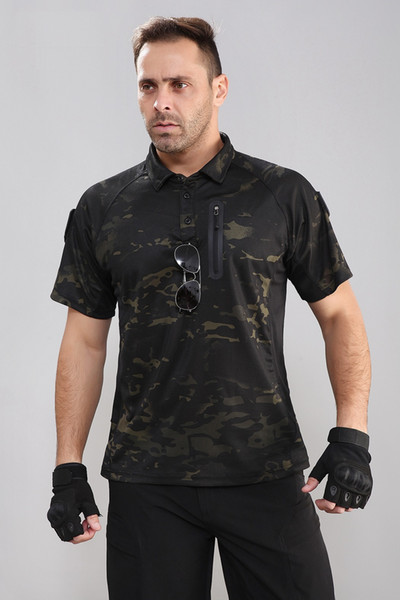 New Men's T Shirt Tactical T Shirt Army Style Short Sleeve Quick Dry Summer Hunting Cotton Shirts