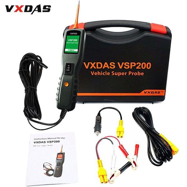 VXDAS VSP200 OBD2 Tool Car Circuit/Battery Tester Car Power Scan Tool 12V-30V PS100 Diagnostic Tools Vehicle Supper Probe Kit