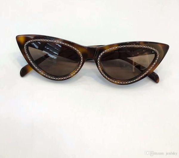 Lenti gatto delle donne Stones occhi occhiali da sole di Havana Brown Occhiali da sole occhiali da sole firmati Eyewear nuovo con la scatola