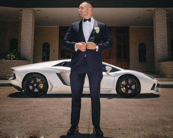 Handsome High Quality Groom Suits Shawl Lapel Two Pieces Wedding Tuxedos Formal Business Men Clothing Set (Jacket+Pants) ZQ
