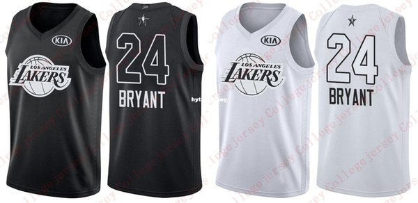 new styles dfd7c 5cb77 2018 All Star Game Kobe Bryant Jersey Black White Mesn Stitched Basketball  Jerseys NCAA College UK 2019 From Hytopjersey, UK $$21.67 | DHgate UK
