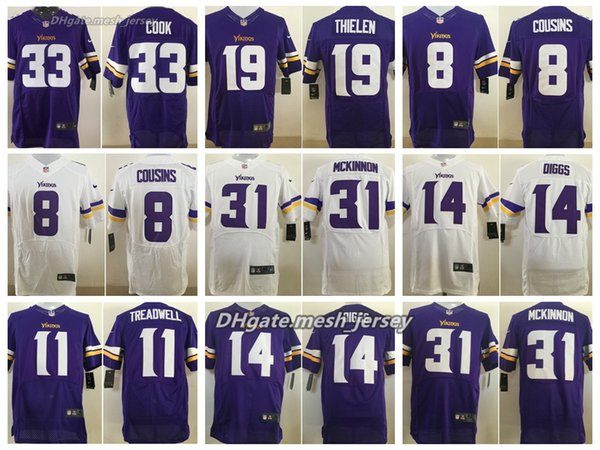 save off 313c7 2e29f 2019 Men Minnesota Vikings Jersey 19 Adam Thielen 22 Harrison Smith 14  Stefon Diggs 33 Dalvin Cook 8 Kirk Cousins Stitching Elite Jerseys From ...
