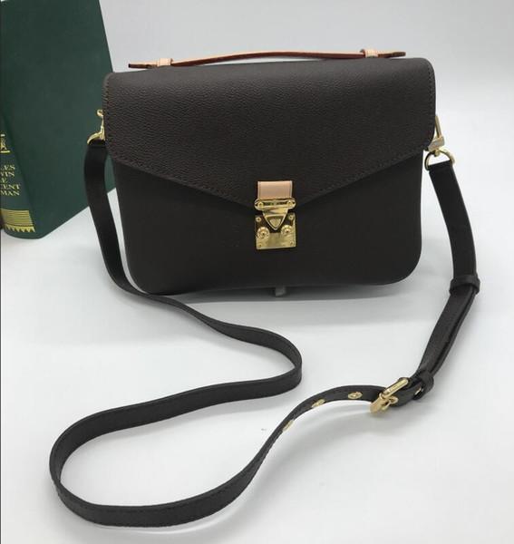 Vendita! Sacchetto di spalla di cuoio di stile di modo classico di marchio della borsa del postino famoso di disegno di alta qualità / trasporto libero