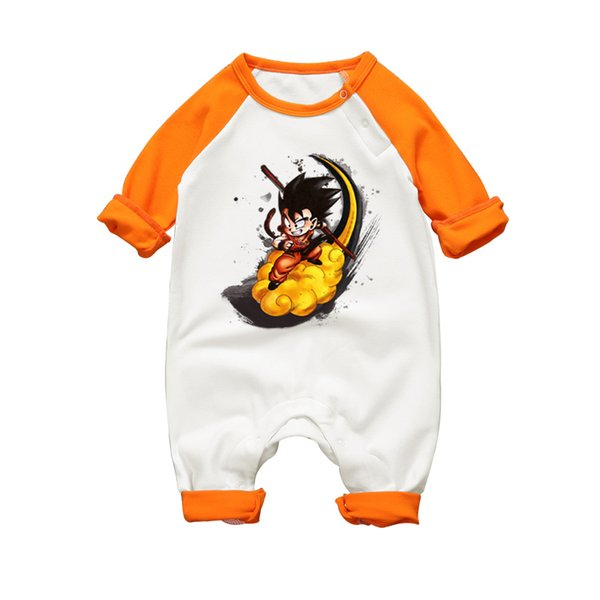 2017 Autumn Baby Boy Girl Romper High Quality Cotton Jumpsuits Dragon Ball Son Goku Toddler Pajamas Long Sleeve Infant Clothes J190712