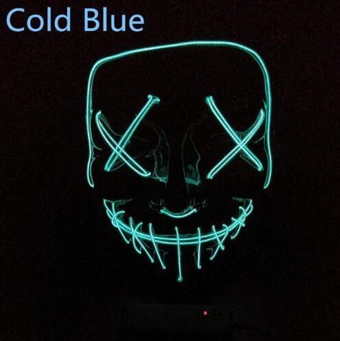 холодная синяя