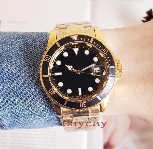 Moda Clásico Hombres Relojes de pulsera Mecánicos de Lujo Reloj Automático Exquisito Acero Inoxidable Hombres Calendario Relojes Con Caja