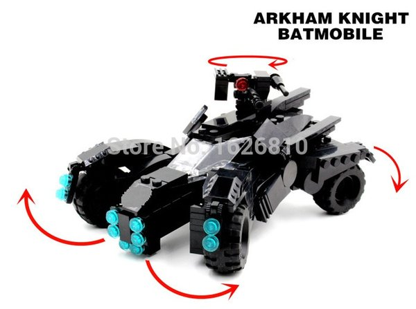 Batman The arkham knight Batmobile Batwing Joker Super Heroes DC Building Blocks Marvel Set briceks baby Toys