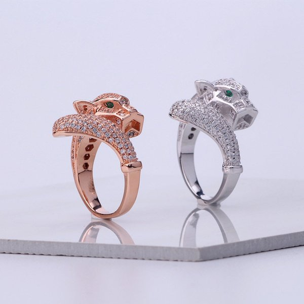 Newest Luxury Designer Rings Fashion Animals Design Ring Hot Sales Gold Silver Wedding Rings Classic Couple Ring Fine Jewelry Party Gift