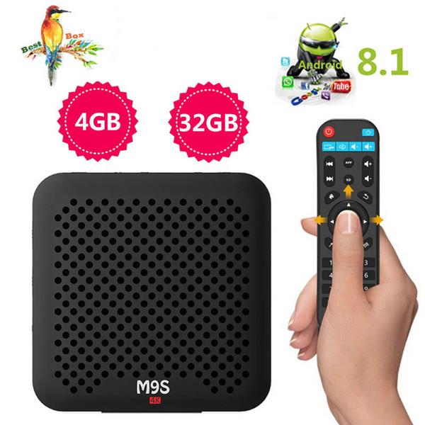 Best selling M9S J2 Android 8.1 TV Box 4GB 32GB RK3328 Quad Core 4K Set Top Box 2.4G WiFI H.265 3D 4K BT4.0 IPTV Media Player Set Top Box