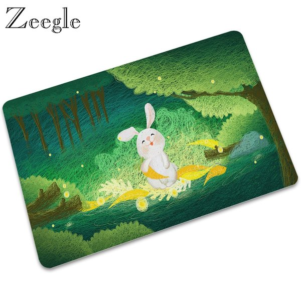 Cartoon Rubber Floor Mat Welcome Home Entrance Doormat Carpet Rug Non-slip Kitchen bathroom Waterproof Mat Outdoor Kitchen Mats