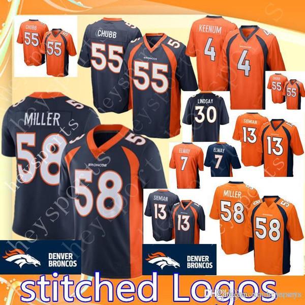 Cheap 2018 Broncos 58 Von Miller 55 Bradley Chubb 4 Case Keenum 30 Davis  supplier