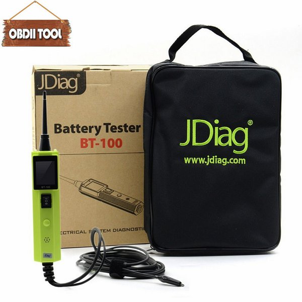 New Arrival JDiag BT100 Battery Tester BT-100 Electrical System Circuit Tester original replace of autel ps100 scan tool