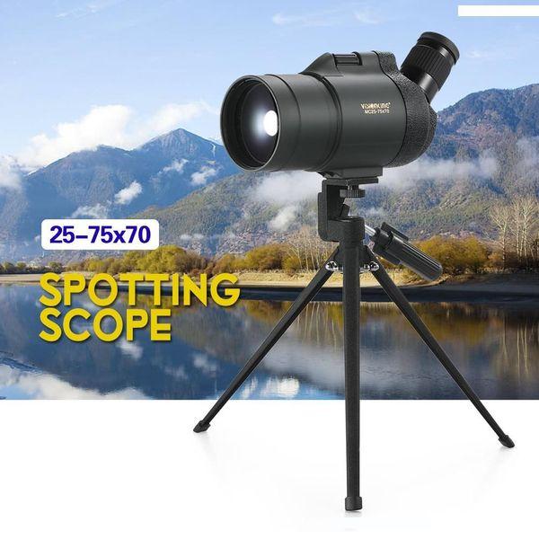 조류 여행을 시청 25-75x70 방수 Fogproof 각도이 보인다 범위 삼각대 케이스 Bak4 프리즘 단안 망원경