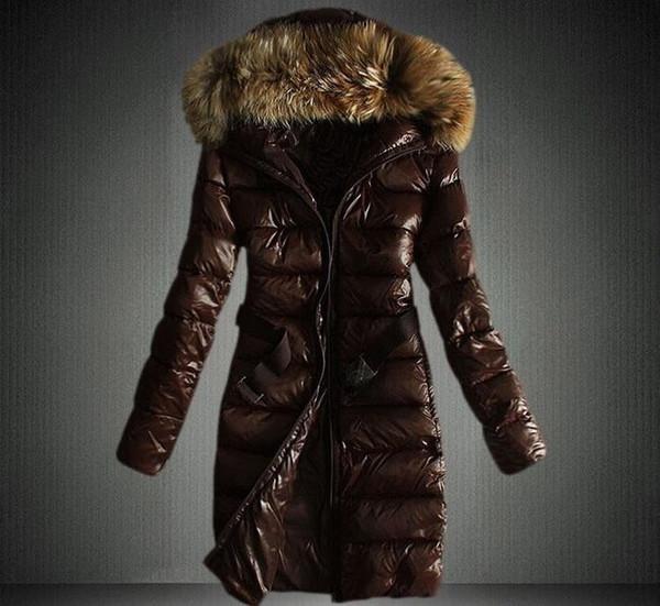 Moda-Donna Piumino invernale lungo e corto Cappotto da donna sottile da donna Cappotto in pelliccia spesso Parka Cappotto in piumino Abbigliamento Parka con cappuccio