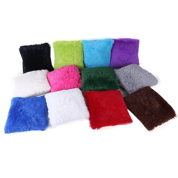 Place taille Throw Case peluche Bed Throw 43 * 43cm Coussin d'oreiller Home Decor s3
