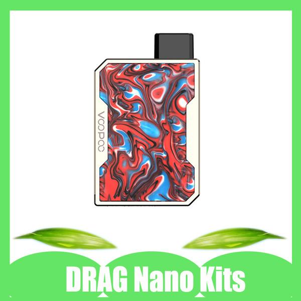 Authentische Voopoo Drag Nano Kits für 750mAh Akku 1.0ml Nachfüllbarer Vape Pod mit Geschenkverpackung