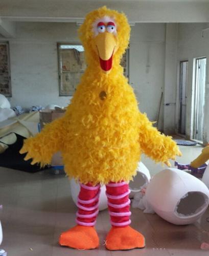 2020 Vente directe d'usine de luxe en peluche oiseau jaune Costumes de mascotte des accessoires de cinéma montrent la marche bande dessinée Apparel fête d'anniversaire