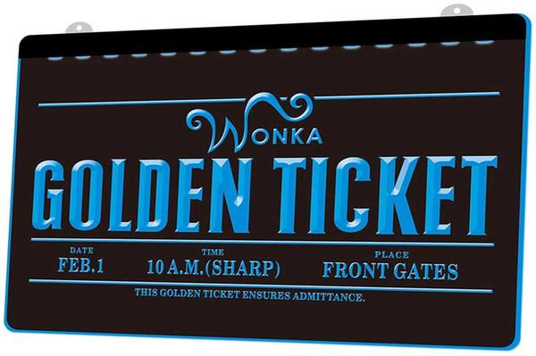 Compre Ls984 B Willy Wonka Oro Ticket Neón Light Signjpg Decoración Dropshipping De Envío Libre Al Por Mayor Es Para Elegir A 1099 Del Shinning168