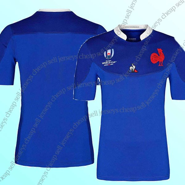 world cup 2019 France rugby jersey FRANCE home blue Rugby Japan Jerseys Home White Red National Team Japanese Rugby size (can print)