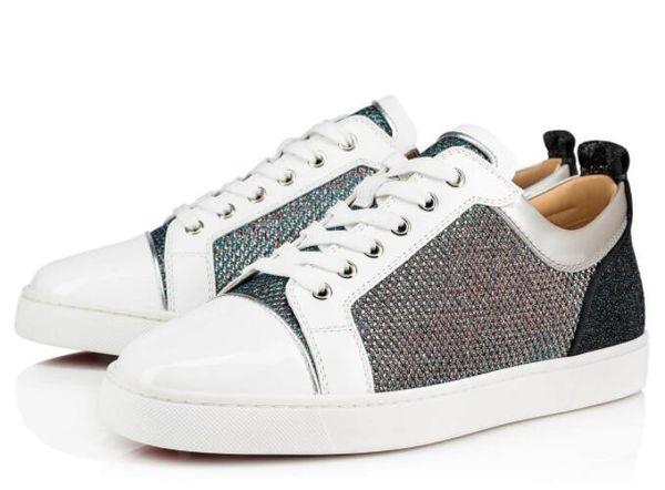 10 Renkler Stil Genç Orlato Kırmızı Alt Ayakkabı, Konfor Rahat Daireler Zarif Marka Hakiki Deri Beyaz, Siyah, Glitter Açık Eğitmenler