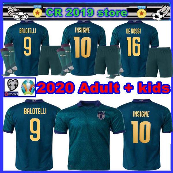New Italien Erwachsene + Kinder 2019 2020 ITALY Hauptfußballjerseys 2020 uropäische Cup Italien Nationalmannschaft BONUCCI IMMOBILE INSIGNE Fußball Jersey