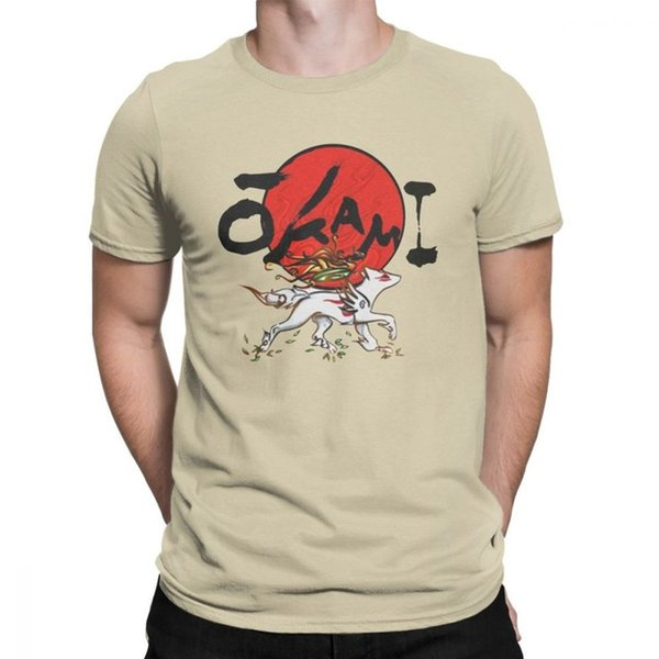 mens designer clothes brand polo Okami Tops Novelty T Shirts for Men Short Sleeve Tops Summer Style Tees Purified Cotton O Neck T-Shirt
