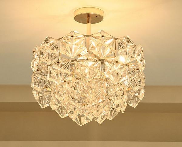 Post moderne LED Pendelleuchte Gold Luxus K9 Kristall Pendelleuchte Wohnzimmer Hotel Droplight Balkon hängen Halle EntranceLLFA