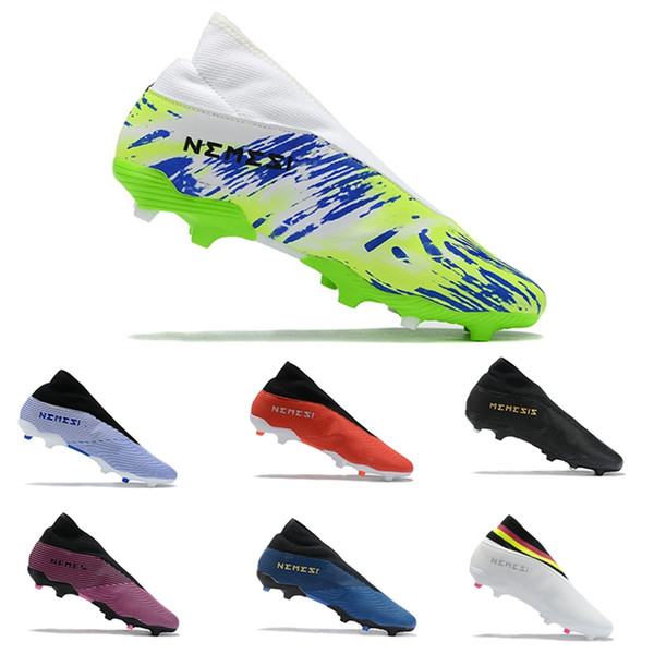 Großhandel Adidas Nemeziz 19.3 FG Laceless Fußballschuhe 302 Redirect Action Rot Schwarz Fußballschuh Nemeziz 19.3 FG Firm Ground Cleats Von