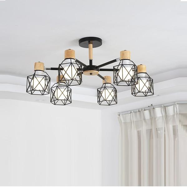 Lustre do vintage Loft Lustre Aranha E27 Ajustável Sala de Estar Iluminação Para Cozinha Restaurante LEVOU Pingente Luminária Luzes