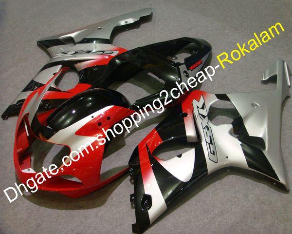 Suzuki Parçaları Için K1 00 01 02 Motosiklet Kaporta GSXR1000 GSXR 1000 2000 2001 2002 Kırmızı Siyah Gümüş Kaporta