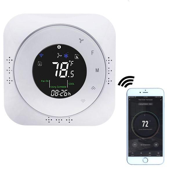 LEORY 24V Smart WiFi Pompe à chaleur Thermostat température vocale Smart Controller vie / Tuya APP contrôle Fonctionne avec Google Accueil Alexa