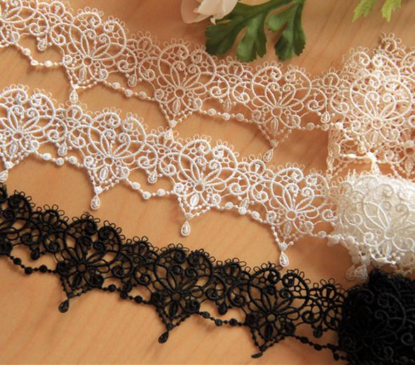 Sale by Yard white 6 cm Wide veil lace rose embroidery Venice lace Trim bridal Wedding dress Eyelashes Lace LS09