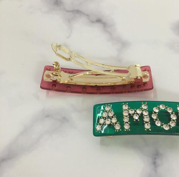 Yeni bayan modelleri eğilim kristal İngilizce harfler bahar at kuyruğu firkete sıcak saç tokası takı toptan