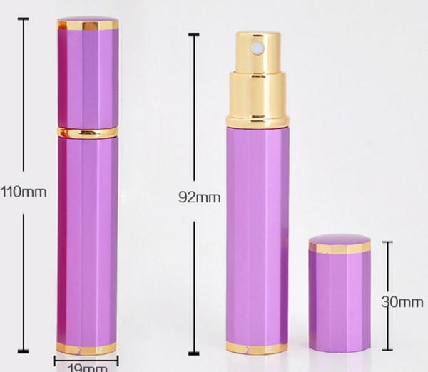 100 adet 8 ml Alüminyum Cam Parfüm Atomizer Şişe Boş Püskürtme Memesi Durumda Konteyner Doldurulabilir Seyahat Pompası Şişe yeni