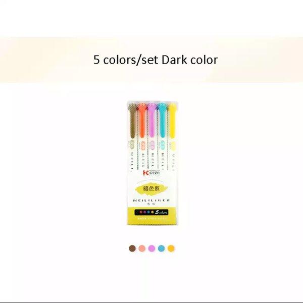 5 pcs Dark color