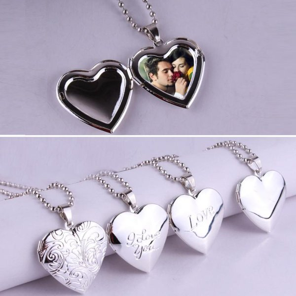 Lover Gift Animal Photo Frames Can Open Locket Necklaces Heart Pendant Necklace Jewelry For Women Girlfriend Gift free shipping