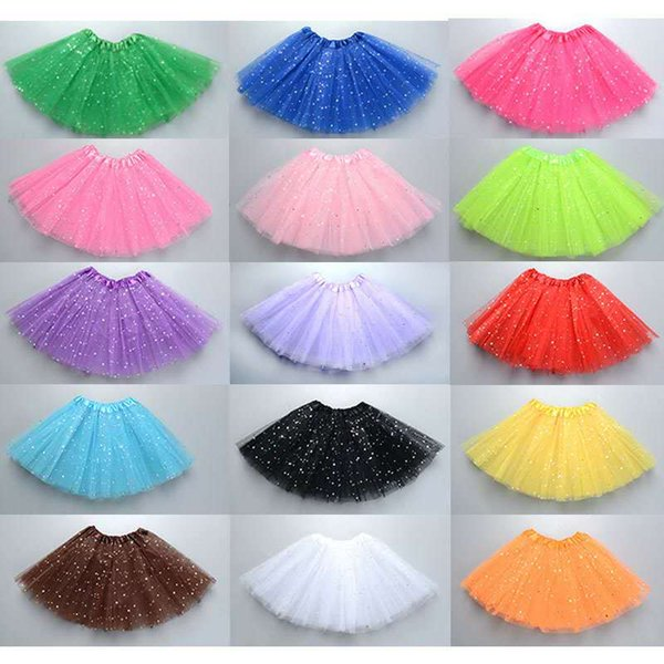 Tutu Skirt Girl Kids Ball Dress Gown Girls Princess Party Ballet Dance Tulle Sequin Skirts Girls Clothing