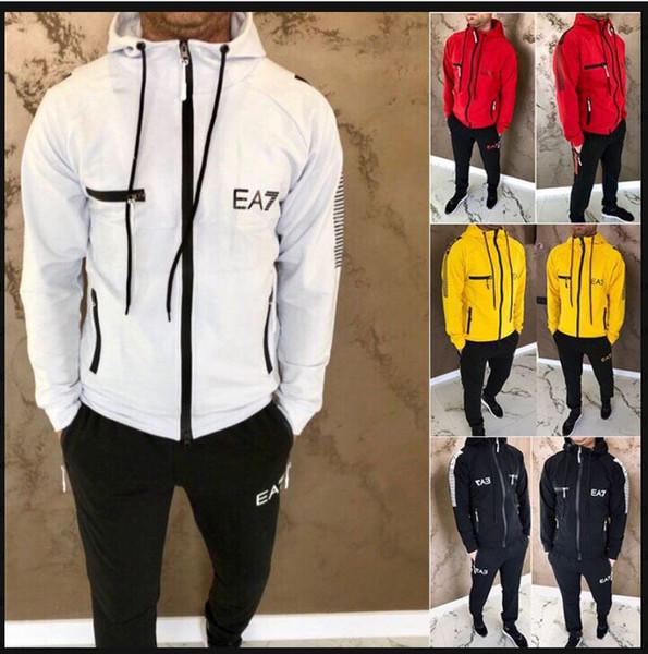 Mixed 4 Farben Neue 2019 Mens Designer Tracksuits Herbst Marken Herren Tracksuits Jogger Anzüge Jacke + Pants Sets Anzug Sport