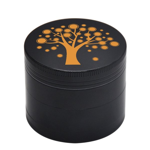 Zinc Alloy Lucky Tree Pattern Grinder 4 Layers Herb Spice Crusher Grinder 50mm Cigarette Tools Rolling Trays Grinders