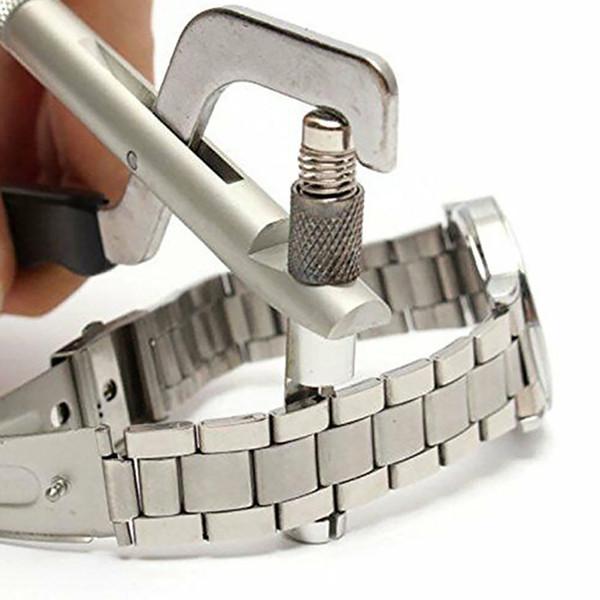 Kits de extracción de correa de reloj Uso en el hogar de bricolaje con pasadores Repuesto de metal para relojero Herramientas pequeñas Durable Enlace de ajuste manual Profesional