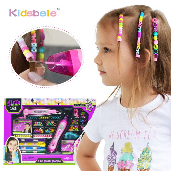 Compre Juego De Simulación Belleza Moda S Chica Juguete Moda Braider Accesorios Para El Cabello Colorido Vestir Niños Juguete Para Niños Diy Juguete