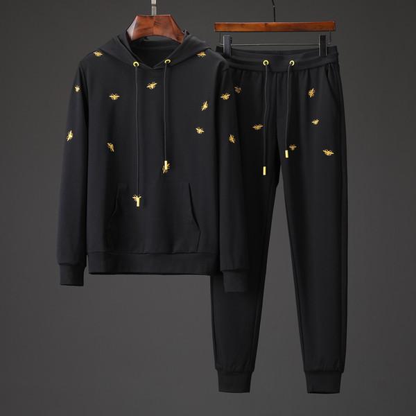 2019 novo outono e inverno sportswear masculino jaqueta com capuz jaqueta masculina Medusa sportswear moletons ternos de corrida
