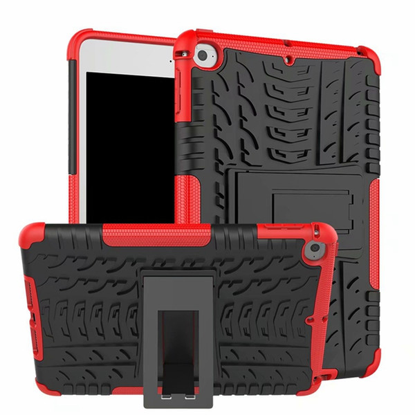 2 in 1 Armor Hybrid Hard PC Silicone Case For Ipad Mini 5 4 Mini5 Mini4 Ballistic Heavy Duty Defender Kickstand Stand Skin Cover 1pcs